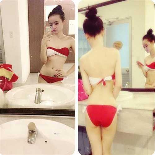 Phương Trang tự tin khoe vóc dáng với bikini ở tuổi 19