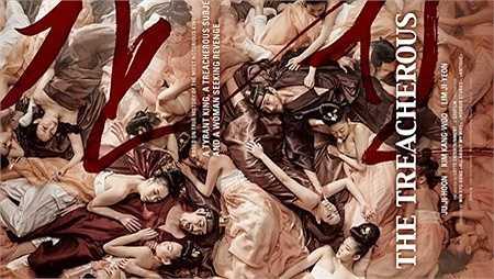 Poster của The Treacherous khắc họa cuộc sống ăn chơi của vị vua ham dục vọng. (Nguồn: Dân Việt)