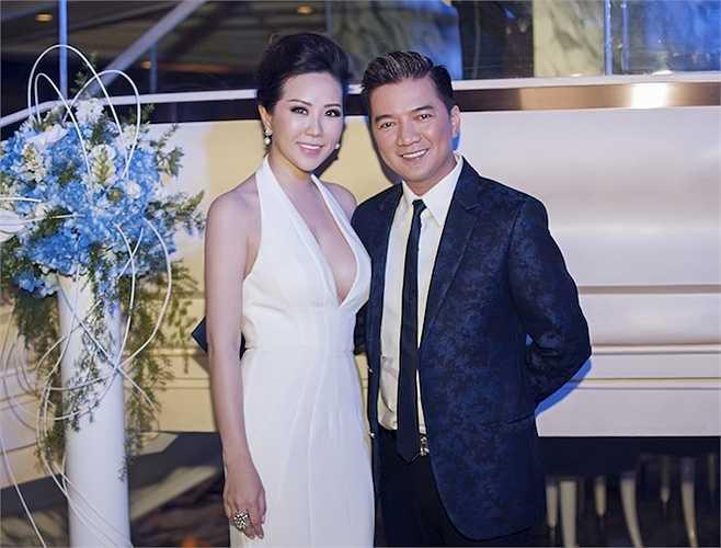 Hoa hậu Thu Hoài và Đàm Vĩnh Hưng.