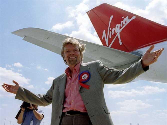 11. Richard Branson  Richard Branson bỏ học từ khi 16 tuổi. Ông là chủ sở hữu của tập đoàn Virgin cung cấp hầu hết các dịch vụ cần thiết trong sinh hoạt, đời sống, vui chơi giải trí với 5,1 tỷ USD.