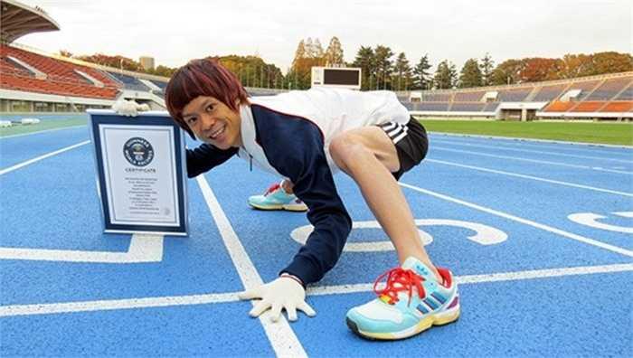Chạy bằng tứ chi nhanh nhất. Năm 2014 VĐV Katsumi Tamakoshi đã xác lập một kỷ lục mới trong phần thi chạy nước rút 100m bằng tứ chi. Với thành tích 15,86 giây, Katsumi đã được mệnh danh là Usain Bolt mới của môn thể thao chạy 100m bằng tứ chi.
