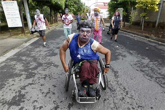 Đội hình zombie ở Managua, Nicaragua