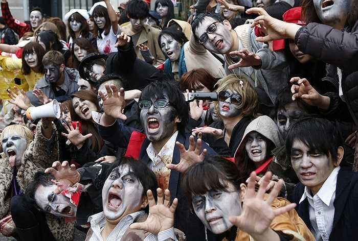 Hóa trang thành thây ma ở Tokyo