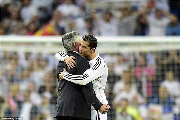 Dù Ronaldo hi vòng Ancelotti sẽ ở lại Real nhưng BLĐ đội bóng này lại không nghĩ như vậy, và ra quyết định sa thải chiến lược gia người Italia ngay sau khi mùa giải kết thúc.