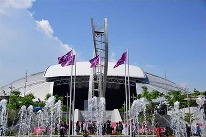 Đài lửa cao gần 20m của SEA Games 28 đã hoàn thành sau 3 tháng thi công