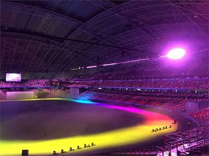 Một góc sân vận động