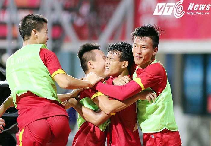 Bàn thắng của Thanh Hiền khai thông thế bế tắc, vừa đủ mang về chiến thắng cho U23 Việt Nam. (Ảnh: VSI)