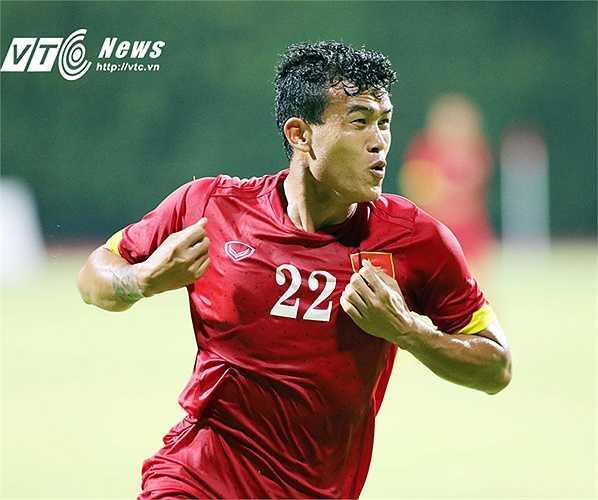 Thanh Hiền dành tặng bàn thắng cho con trai mới sinh. (Ảnh: VSI)