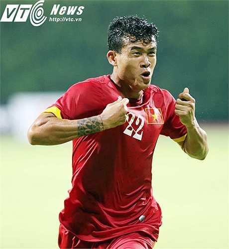 Niềm vui của hậu vệ cánh phải U23 Việt Nam. (Ảnh: VSI)