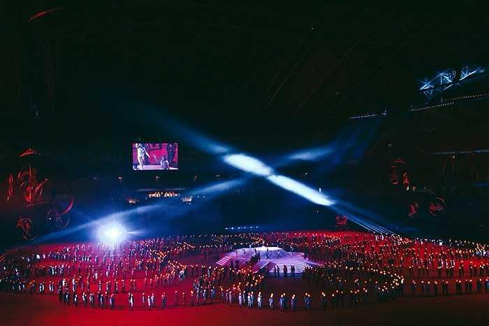 Kết 10 vòng tròn, biểu tượng của thể thao Đông Nam Á.