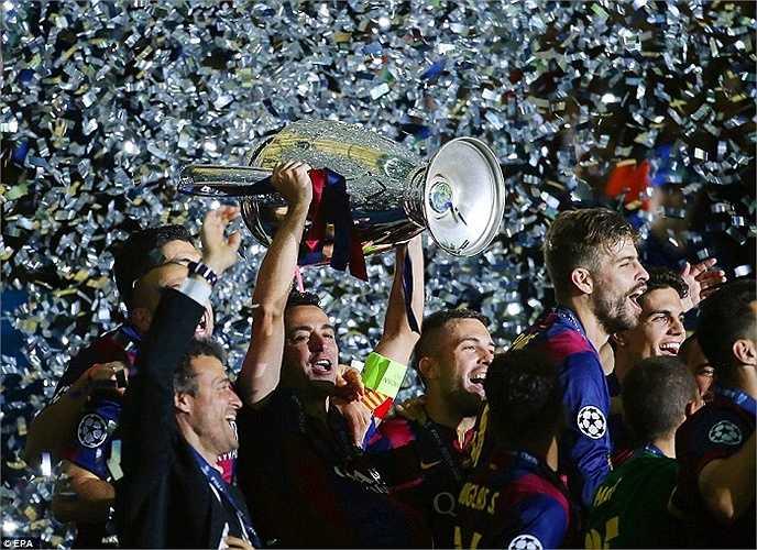 Đánh bại Juventus 3-1, Barca chính thức đăng quang Champions League 2014-2015.