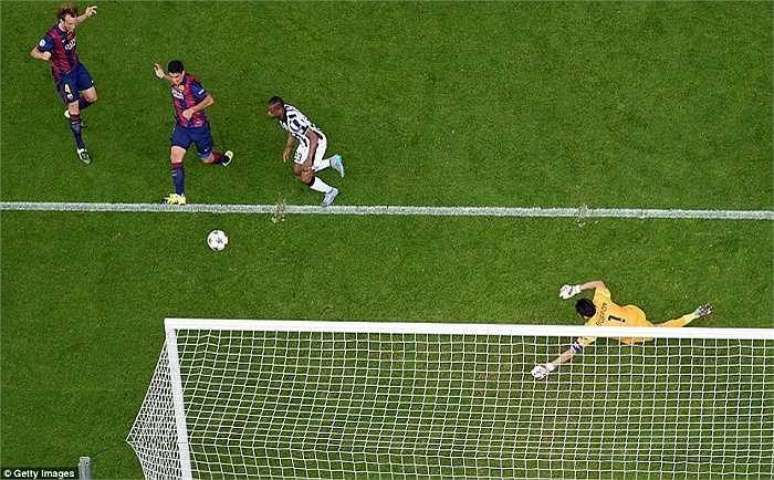 Suarez cho thấy sự nhạy cảm đặc biệt trong khả năng chọn vị trí ghi bàn