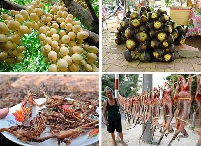 Đặc sản miền Tây khá phong phú với những loại trái cây, các loại khô độc, lạ. Giá các loại đặc sản có nhiều mức, từ bình dân 40.000 - 50.000 đồng/kg cho đến cả triệu đồng.