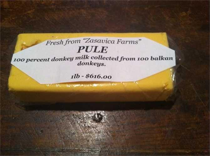 Bơ Pule – 1.000 USD/ kg. Nhãn hiệu bơ đặc biệt này được làm từ sữa của những con lừa từ Serbia. Chúng được cho uống sữa 3 lần một ngày và 15 con lừa chỉ sản xuất được khoảng gần 5 lít sữa/ ngày.