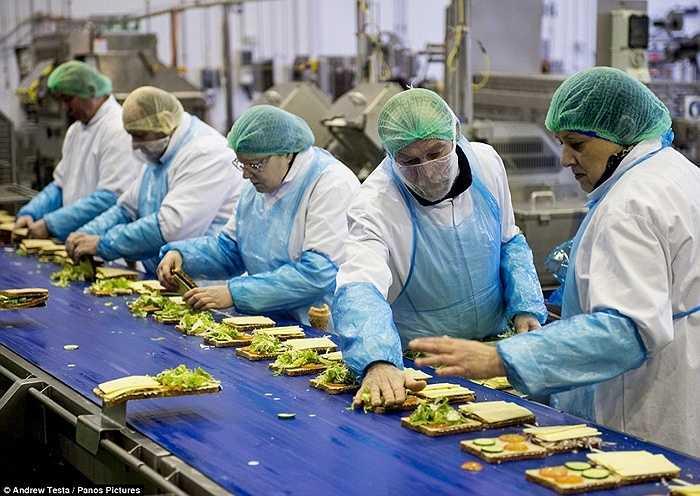 Điều đáng nói là dây chuyền sản xuất với công suất lớn như vậy nhưng có những công nhân sử dụng đôi tay trần để chế biến và làm sản phẩm