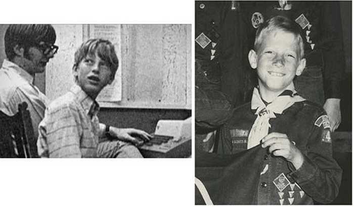 Ngay từ nhỏ, cậu bé Bill Gates đã có đam mê công nghệ và sau này đã sáng lập nên hãng Microsoft.