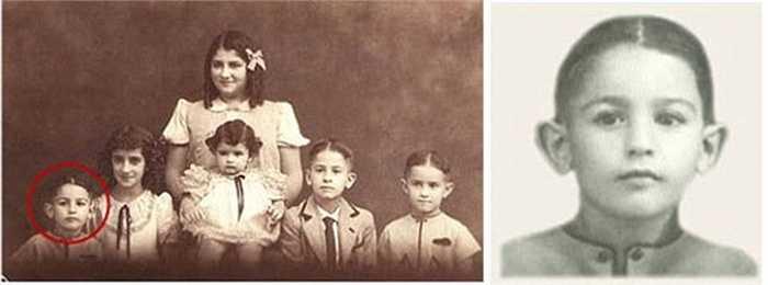 Ảnh thời thơ ấu của tỷ Carlos Slim Helu.