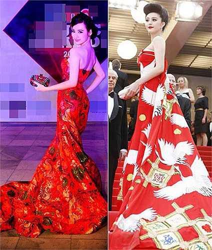 hông chỉ 'váy giống váy', cách trang điểm, làm tóc cũng như phụ kiện của Angela Phương Trinh cũng được lấy cảm hứng từ Nữ hoàng thảm đỏ Châu Á