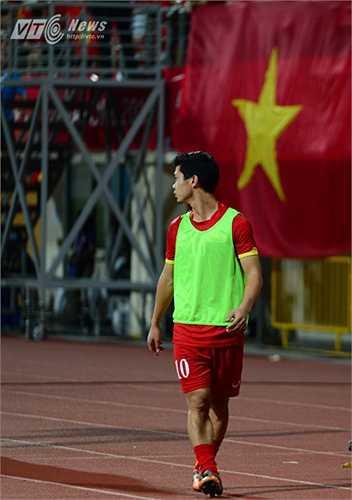 Anh được hy vọng là 'cứu tinh' khi U23 Việt Nam đa bị U23 Thái Lan dẫn bàn. (Ảnh: Hà Thành)