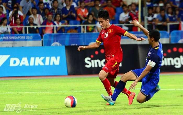 Lê Thanh Bình được bố trí đá tiền đạo cắm ở trận gặp U23 Thái Lan.