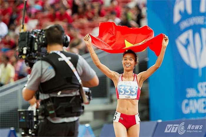 Thành tích của Đỗ Thị Thảo là 4 phút 28 giây 39. Giữ kỷ lục SEA Games ở nội này chính là Trương Thanh Hằng (4 phút 11 giây 60). (Ảnh: Hải Thịnh)