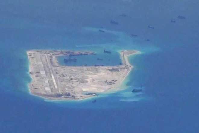 Hình ảnh máy bay do thám Mỹ chụp được hôm 21/5 cho thấy Trung Quốc vẫn đang tăng cường bồi đắp trái phép ở Biển Đông