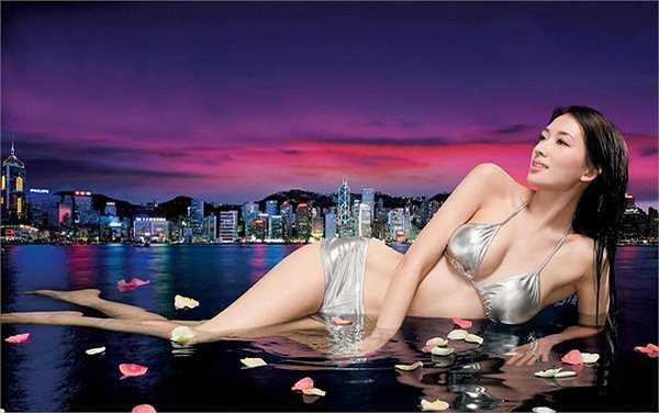 'Nữ hoàng quảng cáo' Đài Loan Lâm Chí Linh từng là người mẫu trước khi làm diễn viên.