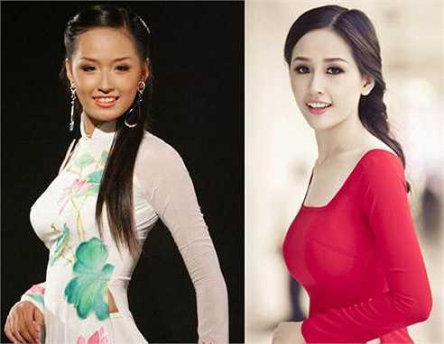 Mai Phương Thúy là hoa hậu có sự thay đổi nhan sắc rõ rệt nhất trong số các hoa hậu Việt Nam
