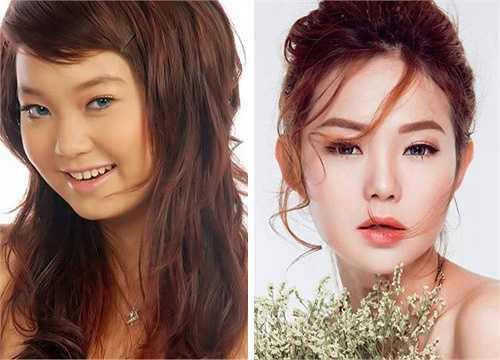 Minh Hằng cũng thay đổi từ một cô gái có vẻ dễ thương sang hình tượng mỹ nhân gợi cảm và quyến rũ.