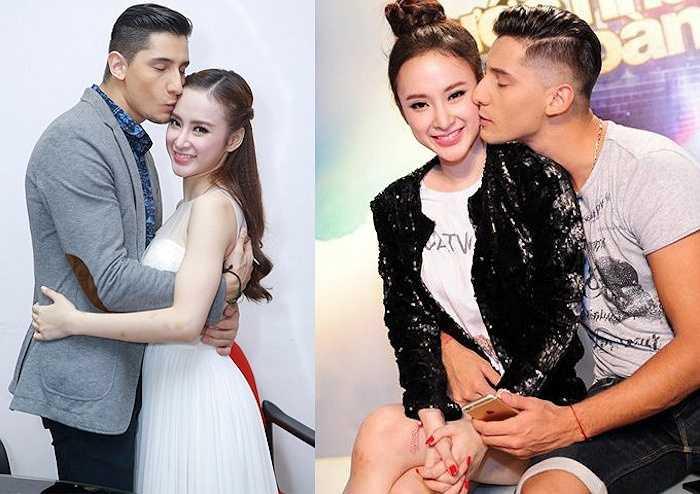 Angela Phương Trinh và bạn nhảy Kris thường có những cử chỉ thân mật chốn đông người trong thời gian cả hai tham gia Bước nhảy hoàn vũ.