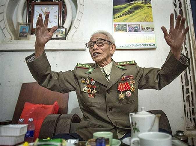 Một cựu chiến binh 82 tuổi, từng tham gia chiến dịch Điện Biên Phủ