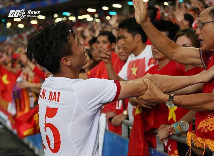 Hình ảnh đầy nước mắt sau trận thua của U23 Việt Nam.(Ảnh: Phạm Thành)