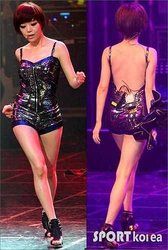 Ga In được đánh giá là nữ hoàng sexy trong tương lai của Kpop.