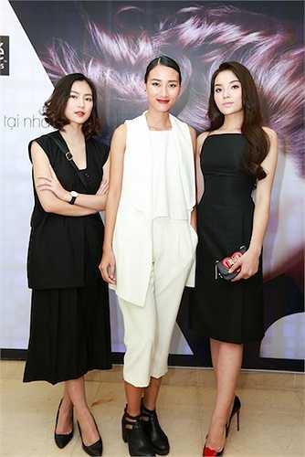 Ba người đẹp đọ sắc tại sự kiện.