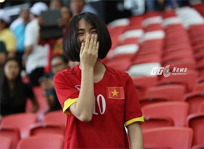 Hòa Minzy vừa tham gia vào dự án làm clip ca nhạc cổ vũ U23 Việt Nam và đoàn thể thao Việt Nam tại SEA Games.(Ảnh: Phạm Thành)