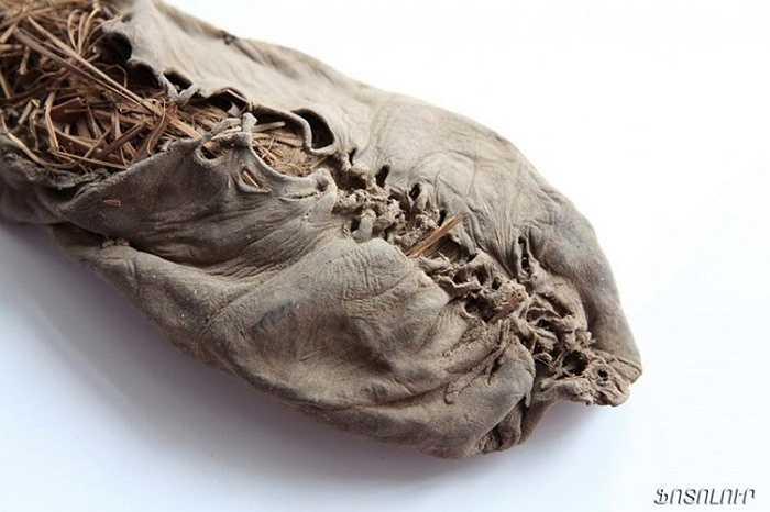 Chiếc giày cổ nhất thế giới có niên đại 5.500 năm tuổi. Đó là chiếc giày da bò được tìm thấy trong một hang động tại Armenia năm 2010. Mặc dù là thiết kế cổ xưa nhưng chiếc giày này có nhiều đặc điểm giống các loại giày ngày nay. Bên trong chiếc giày này có chứa đầy cỏ giúp đôi chân người dùng được thoải mái.