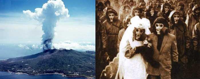 Đảo Miyake-Jima. Hòn đảo nằm ở vùng lãnh hải Nhật Bản và bị ảnh hưởng bởi núi lửa Oyama. Ngoài ra, khu vực này còn bị ảnh hưởng bởi sự dịch chuyển của các mảng địa chất nên gây ra sự phát tán khi lưu huỳnh gây ra cái chết của 31 người năm 1953.