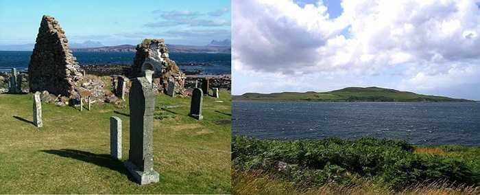 Đảo Gruinard. Nơi đây từng là một hòn đảo đông đúc và nhộn nhịp cho đến khi Chiến tranh thế giới thứ hai nổ ra. Nước Anh sử dụng đảo Gruinard làm nơi phát triển bom phát tán bệnh than và khiến cho nguồn đất, nước bị ô nhiễm và khiến cho cư dân phải rời bỏ nơi sinh sống của mình