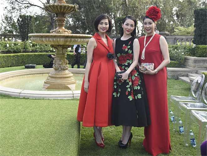 Ngô Thanh Vân, Linh Nga, Diễm My cùng vượt quãng đường xa xôi sang tham dự show diễn.