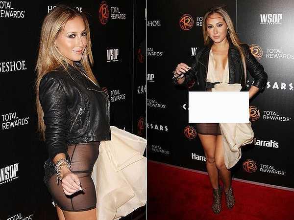 Adrienne Bailon tự làm xấu mình tại sự kiện Escape To Total Awards 2012.