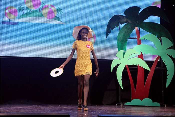 Tuy không giành được giải thưởng nhưng cô bạn người Ghana đã để lại ấn tượng sâu sắc trong lòng khán giả