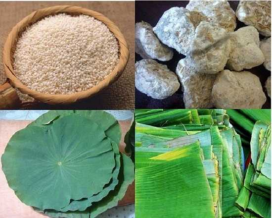 Để làm rượu nếp, bạn cần chuẩn bị 1kg gạo nếp cẩm (hoặc nếp cái hoa vàng), 20g men rượu, lá chuối hoặc lá sen, rổ thưa, chăn mỏng.