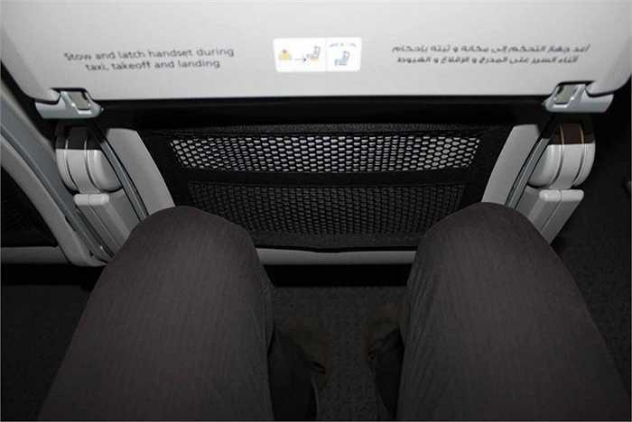Vị trí đặt chân rộng rãi so với các dòng máy bay khác