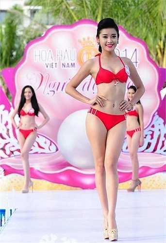 Cô trở thành nhân vật hot của showbiz sau khi tham gia cuộc thi Hoa hậu Việt Nam 2014.