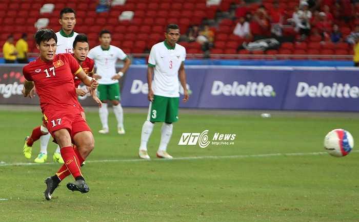 Bàn mở tỷ số chính là chỗ dựa tinh thần để U23 Việt Nam ào lên phía trước. (Ảnh: Phạm Thành)
