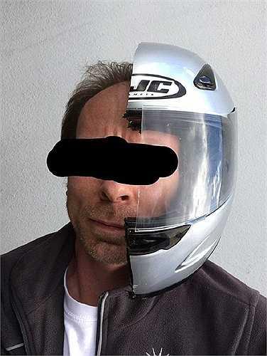 Nửa chiếc mũ bảo hiểm không thể phát huy tác dụng