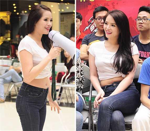 Nếu diện áo thun một cách bình thường thay vì túm lên, Hoa khôi Thể thao Lại Hương Thảo đã tránh được sự cố 'khoe bụng mỡ' ở vòng casting 'Cuộc đua kỳ thú' mùa thứ 3.