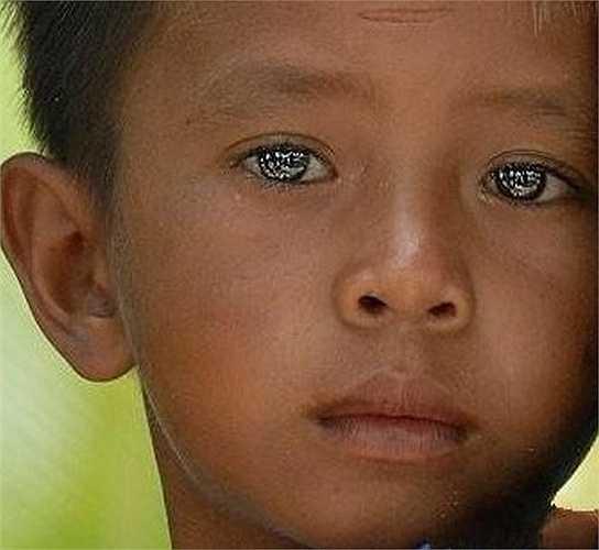 Cậu bé này là người Hải dương Gypsy (Sea Gypsies) có đôi mắt sáng lấp lánh như vậy. Những người Gypsies sống gần ở Bờ biển phía Tây Thái Lan, có thể duy trì thị lực rất tốt ở dưới nước. Họ có thể kiểm soát kích thước con ngươi khiến đồng tử co lại đến 22%.