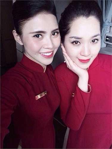 Hoàng Thanh Thúy là tiếp viên hàng không của hãng Vietnam Airlines.
