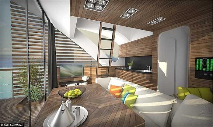 Nội thất các phòng đều được thiết kế hiện đại và sang trọng.